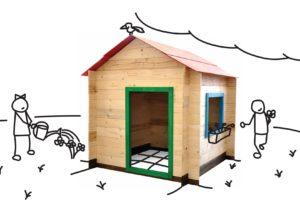 Dřevěný domek 118 x 118 x 133 cm