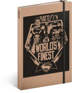 Notes Batman/Superman,  linkovaný, 13 x 21 cm