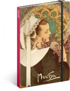 Notes Alfons Mucha A5, 13 x 21 cm