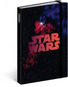 Notes Star Wars – Black, linkovaný, 10,5 x 15,8 cm