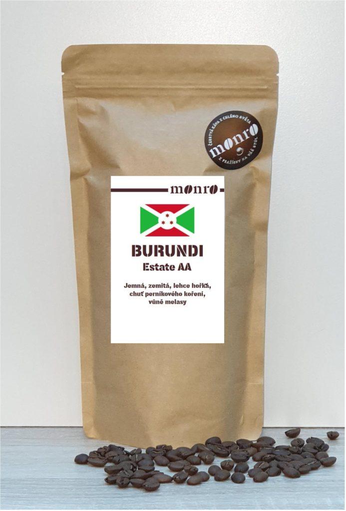Burundská Arabika Estate AA čeratvě pražená