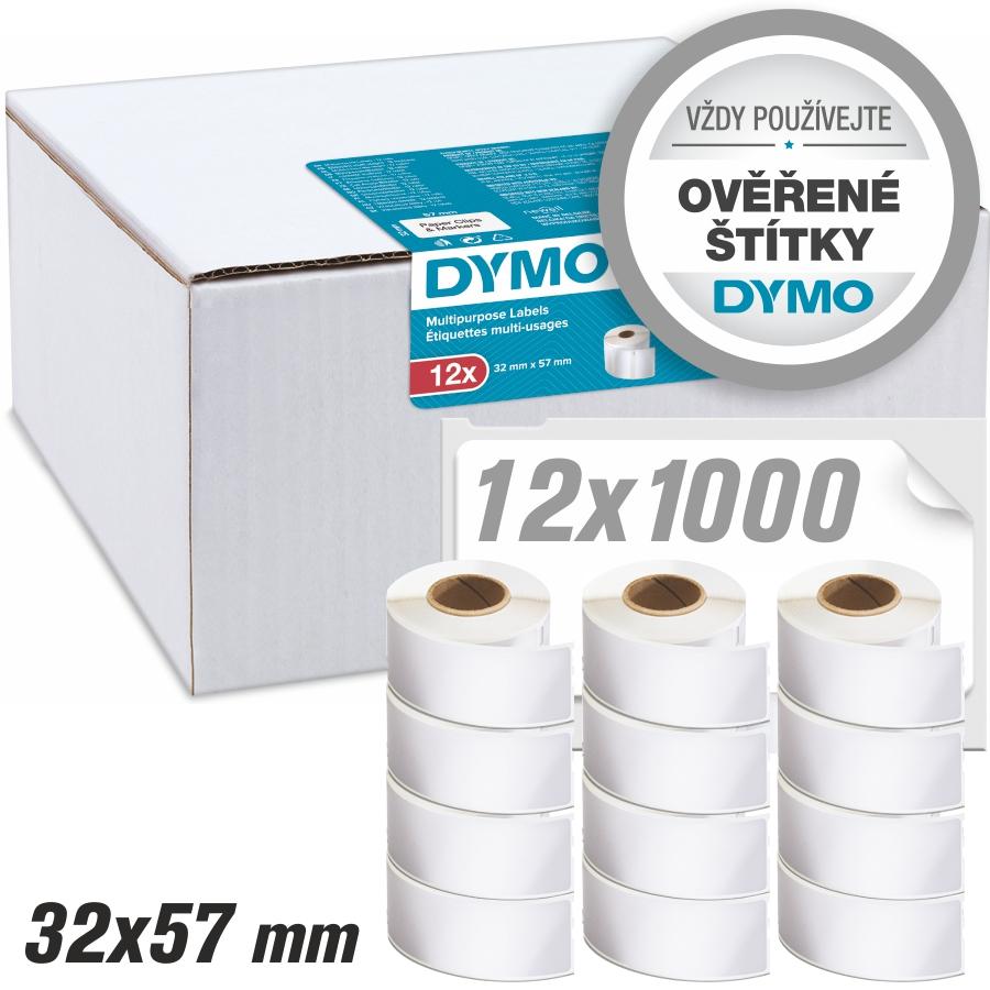 Štítky Dymo LW Standard – nepermanentní, 32×57 (12x1000ks) PROMO