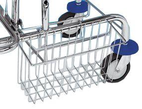 AllServices 4047 nerezový košík k úklidovému vozíku s bočním úchytem pro úklidový vozík JEPY