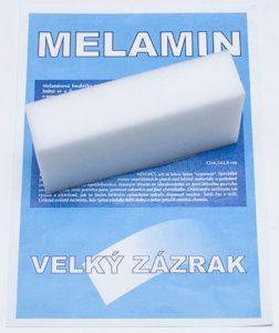 Zázračná čistící houba – Melaminová nano houbička bílá 10 x 6 x 2 cm