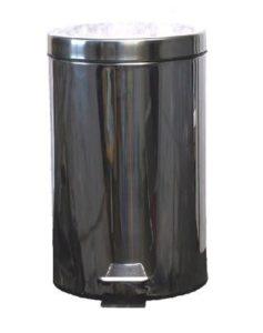 AllServices Odpadkový koš pedálový kulatý s plastovou vložkou 3 l – nerez