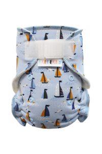 Kalhotková plenka – Racek a plachetnice na modré SZ, sv.modré patentky