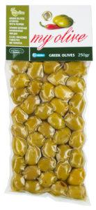 Zelené řecké olivy plněné paprikou 250g MY OLIVE