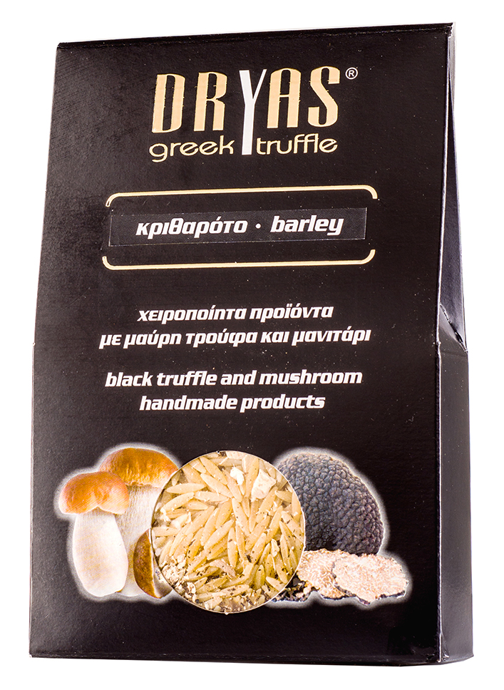 Těstovinová rýže s houbami portobello a černými řeckými lanýži 300g DRYAS
