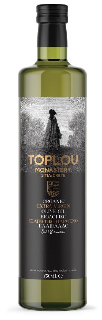 BIO extra panenský olivový olej ze Sitie 750ml TOPLOU MONASTERY