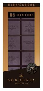 80% hořká čokoláda 100g SOKOLATA AGAPITOS