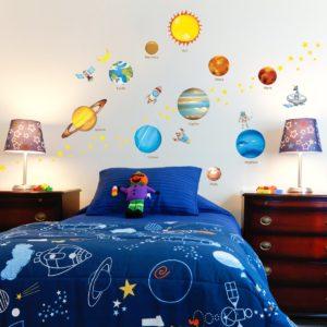 Dekorační nálepka-planety- 186 x 100 cm
