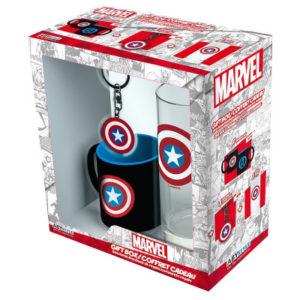 Dárková sada Captain America (s klíčenkou)