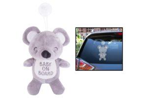 """First Steps Plyšový medvídek s nápisem """"Baby on Board"""""""