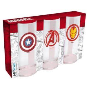 Sada sklenic Marvel, 3 ks
