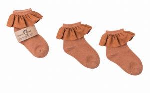 Mama's Feet Dětské ponožky s volánkem Spanish Seville oranžové