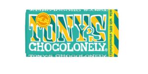 Tony's Chocolonely – bílá čokoláda, stracciatella, 180 gramů