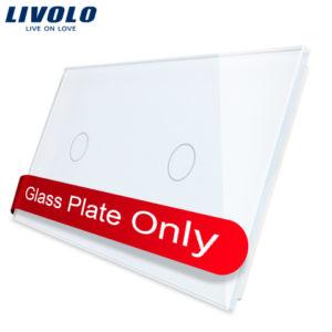 LIVOLO 1C-1C-11 sklenený 2-rámik biely