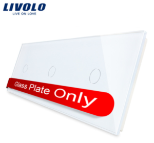 LIVOLO 1C-1C-1C-11 sklenený 3-rámik biely