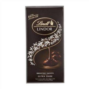 Lindt LINDOR Extra Dark Chocolate 100g
