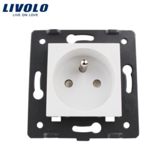 LIVOLO FR-FK-11 Elektrická zásuvka – SK biela
