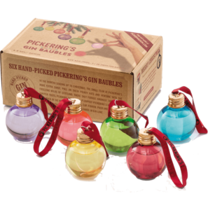 Pickering's Gin Christmas Baubles 6 x 0,05 l