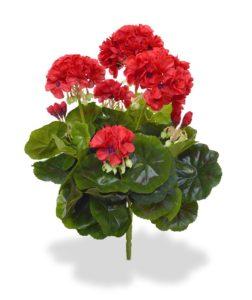 Umělá rostlina Pelargonie (40cm) červená