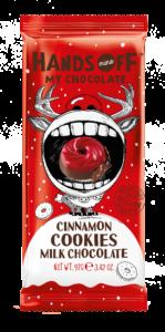 Hands off my chocolate – mléčná čokoláda, skořice a cookies, 97 gramů
