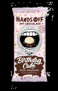 Hands off my chocolate – mix bílé a mléčné čokolády, narozeninový dort, 100 gramů
