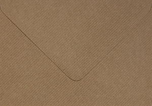 barevná obálka 155X155 HNĚDÁ S PRUHY, 20 KS