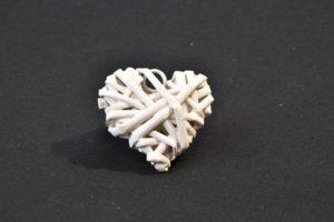 Srdíčko bílé malé – 5 ks