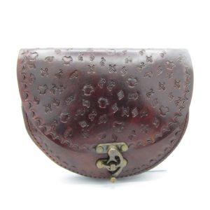 Vintage kabelka Victoria – tmavě hnědá