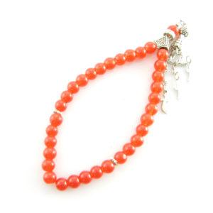 Růženec – Jadeit – oranžový