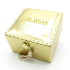 Krabička – šperkovnice Smilargan – zlatá