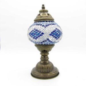 Orientální skleněná mozaiková lampa Mavi – stolní