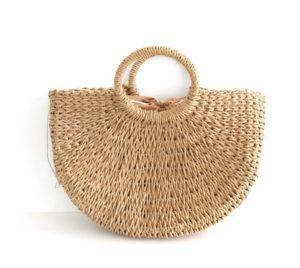 Pletená slaměná košíková kabelka – Henrietta