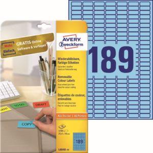 Barevné samolepící etikety   L6048-20