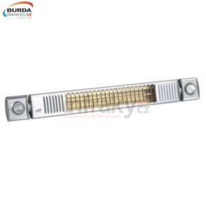 Infrazářič – Burda TERM 2000 L&H, 2 kW, stříbrný Ultra LOW GLARE var