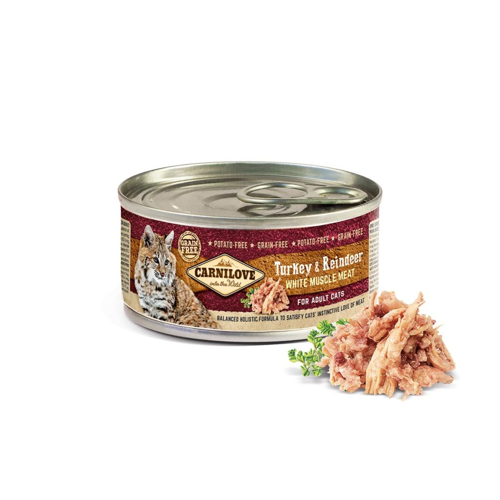 Carnilove White Muscle Meat Turkey & Reindeer for Adult Cats 100g