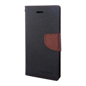 Pouzdro / kryt pro iPhone 7 Plus / 8 Plus – Mercury, Fancy Diary BLACK/BROWN
