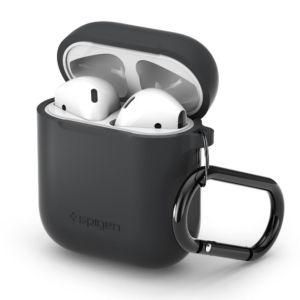 Pouzdro pro sluchátka AirPods – Spigen, AirPods Case Charcoal