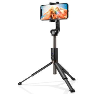 Selfie tyč s Bluetooth ovladačem a stojánkem – SPIGEN, S540W Black