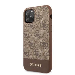 Ochranný kryt na iPhone 11 Pro – Guess, 4G Stripe Brown