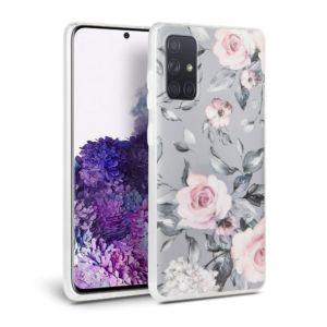 Ochranný kryt na Samsung GALAXY A51 A515F – Tech-Protect, Floral Gray