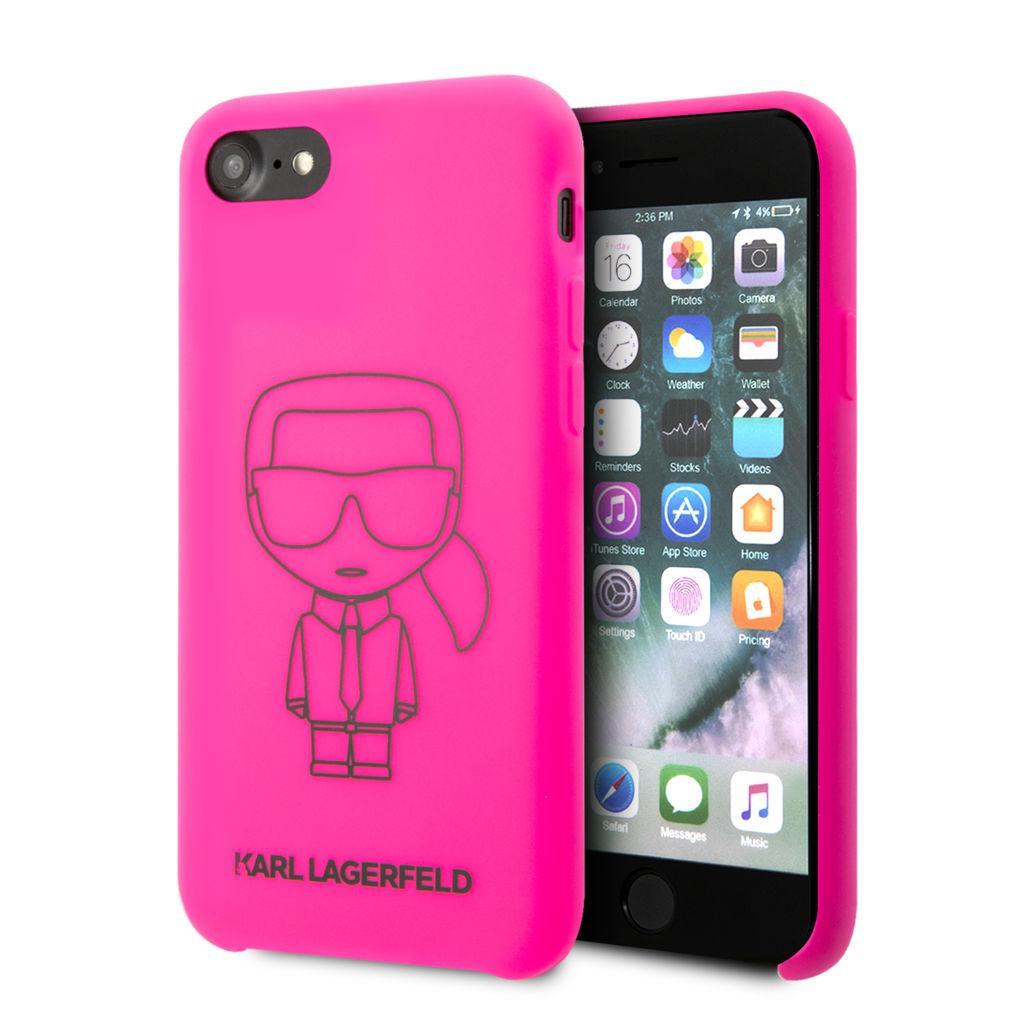Ochranný kryt pro iPhone 7 / 8 – Karl Lagerfeld, Silicone Ikonic Pink