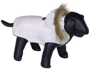 Nobby ELNA bunda pro psa s kožíškem bílá 29cm