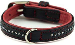 Nobby Pacific Deluxe obojek se Swarovski krystaly XS 27cm červená