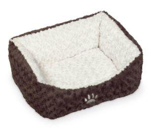 Nobby Neiku obdelníkový pelíšek soft plyš bílá 75x60x23cm