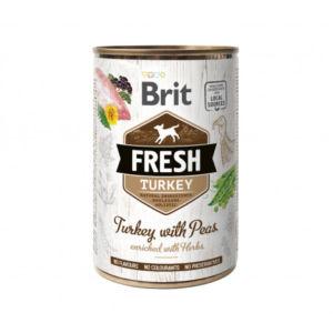 Brit Dog Fresh konz Turkey with Peas 400g