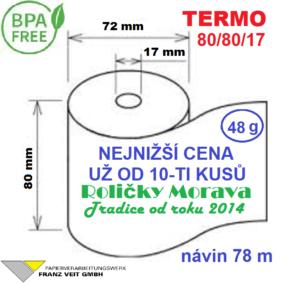 Termo 80/80/17 78 m BPA Free