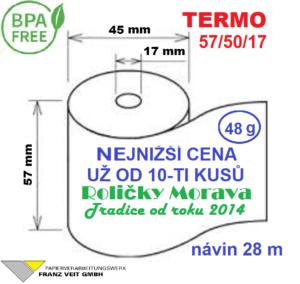 Termo 57/50/17 28 m BPA Free